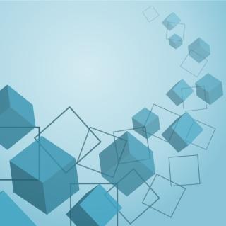 立方体を配置した背景 Cubes Background Vector イラスト素材