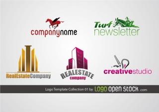 ロゴ デザイン見本 Logo Template Collection イラスト素材