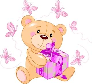 可愛い熊の縫いぐるみ cute cartoon bear vector イラスト素材5
