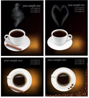 珈琲を題材にした背景 coffee theme vector イラスト素材