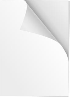 コーナーが捲れた紙のクリップアート Paper Corner clip art イラスト素材