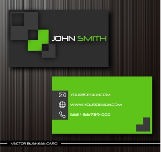流行の名刺テンプレート gorgeous simple business card templates イラスト素材5
