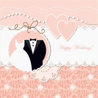 結婚を表現したお洒落な背景 wedding label background イラスト素材
