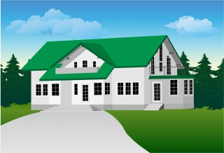 お家のクリップアート house vector イラスト素材5