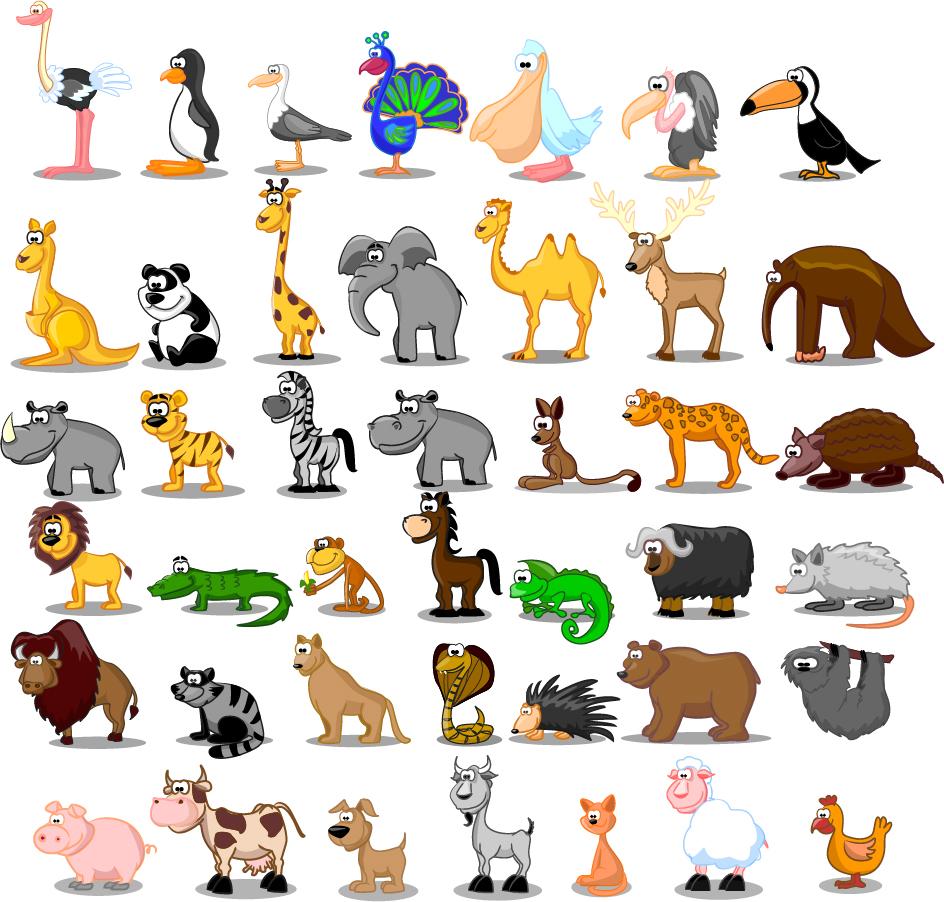 可愛い動物アイコン cute cartoon animals イラスト素材 | illustpost