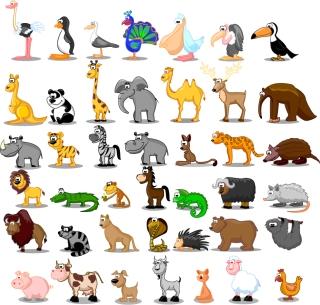 可愛い動物アイコン cute cartoon animals イラスト素材