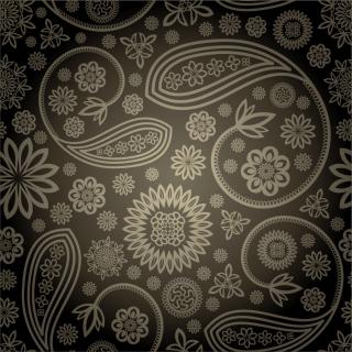 落ち着いたペイズリー柄の背景 Paisley background pattern イラスト素材2