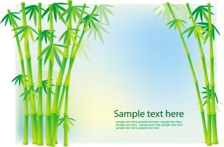竹と植物のクリップアート bamboo grass plant vector イラスト素材3