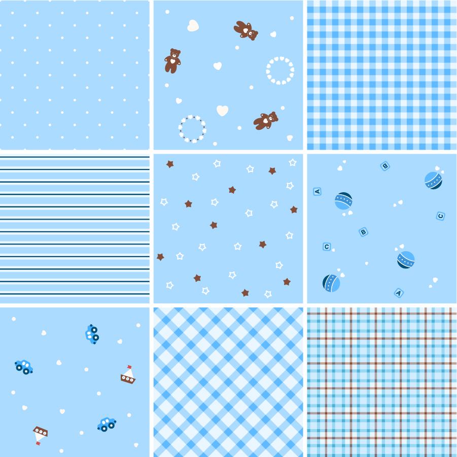 シームレス パターンと格子柄の背景 collection of seamless plaid