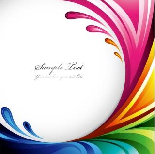 鮮やかな配色のダイナミックな曲線の背景 Symphony dynamic lines background イラスト素材