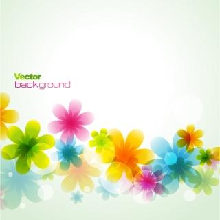 淡い色の花弁が重なる背景 dream spring flowers background イラスト素材