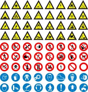安全標識のアイコン集 icon Road Sign Vector Set イラスト素材