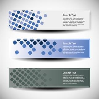 ドット スタイルのお洒落なバナー dot background fashion banner イラスト素材