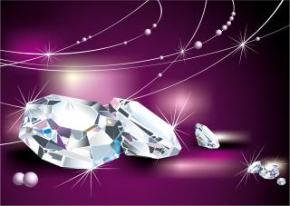 輝くダイヤモンドの背景 Diamond Free Vector Graphic イラスト素材