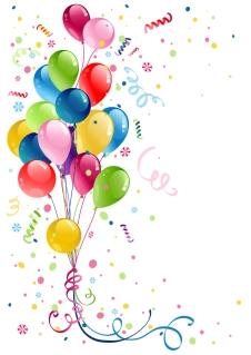 舞い上がるカラフルな風船の背景 beautifully colored balloons イラスト素材