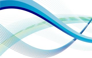 青い曲線が優雅に交差する背景 Abstract Wave Lines Vector Art イラスト素材