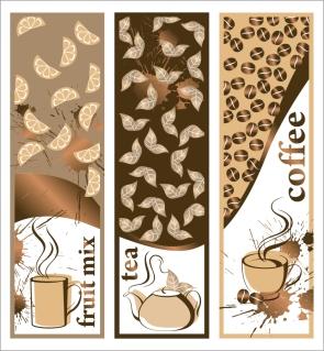 カフェ メニューの表紙見本 cafe menu cover vector イラスト素材2