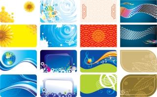 カラフルで鮮やかなカード テンプレート Brilliant colorful card template イラスト素材