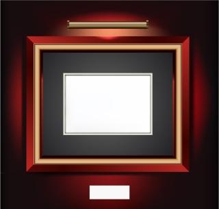 照明をあてた美しい額縁 beautifully realistic frame イラスト素材3
