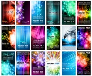 光線が輝く効果のカード背景 brilliant light effects dynamic business cards イラスト素材