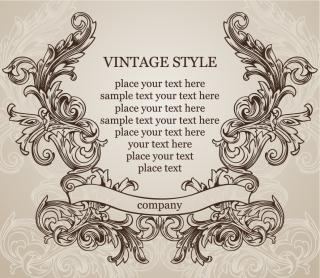 ヨーロッパ調の古典的な飾り罫 european classic lace pattern vector イラスト素材