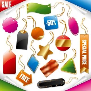 金縁のセールス タグ デザイン sale price gold tag label イラスト素材