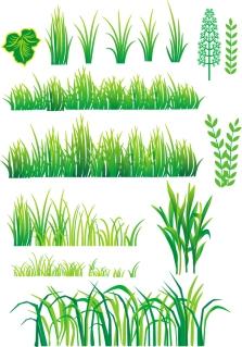 竹と植物のクリップアート bamboo grass plant vector イラスト素材4