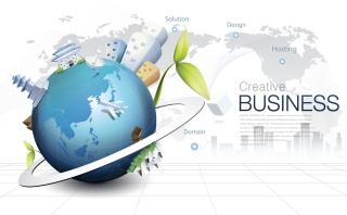 グローバル ビジネスを表現した背景 global business background design vector イラスト素材