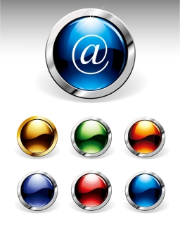 メタリックなウェブ デザイン用ボタン metal edging texture vector button イラスト素材2