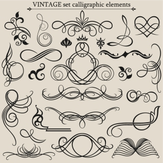 ヨーロッパ調の古典的な飾り罫 european classic lace pattern vector イラスト素材2