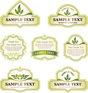 緑のリボンとラベル デザイン green ribbon label vector イラスト素材2