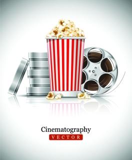映画を題材にした背景 movie props picture clip art イラスト素材10