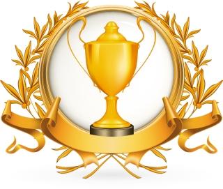 金銀銅に輝くトロフィー Golden Silver bronze trophy vector イラスト素材3