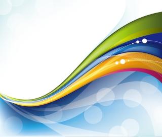 美しい曲線と円の背景 Abstract Design Vector Background イラスト素材