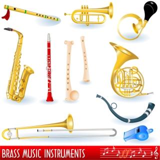 様々な楽器のクリップアート variety of musical instruments vector イラスト素材5