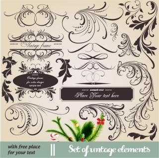 ヨーロッパ調の飾り罫 europeanstyle lace pattern イラスト素材2