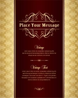 金色の背景が落ち着いた表紙見本 classic gold pattern background イラスト素材