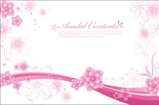 エレガントな花ビラの背景 Elegant Floral Background Vector Graphics イラスト素材3