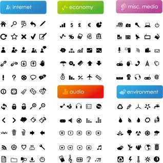 黒いシンプルなアイコン集 black simple icon vector イラスト素材