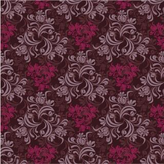 シームレスな植物柄の背景 Seamless Floral Background Vector イラスト素材