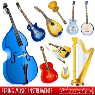 様々な楽器のクリップアート variety of musical instruments vector イラスト素材2
