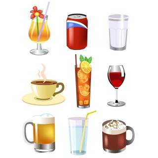 飲み物のクリップアート drink beer and other vector イラスト素材2