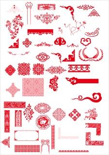古典的な中国の飾り罫 chinese classical boutique pattern イラスト素材