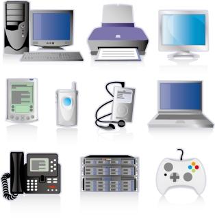 デジタル製品のアイコン digital technology products icon イラスト素材