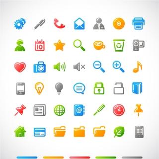 シンプルなアイコン集 simple icon vector イラスト素材