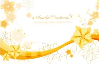 エレガントな花ビラの背景 Elegant Floral Background Vector Graphics イラスト素材4