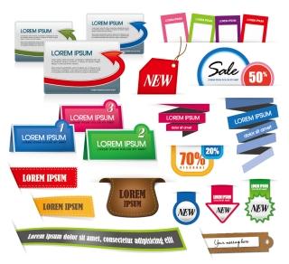 美しいラベル デザイン見本 beautiful color labels イラスト素材