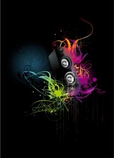 ミュージック パーティー フライヤー デザイン Music Party Flyer イラスト素材
