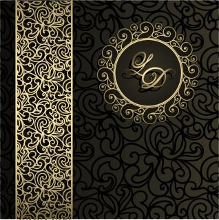落ち着いたデザインの金模様背景 gray European pattern background イラスト素材