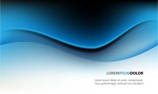 優雅な曲線の背景 dynamic lines of the blue background イラスト素材1